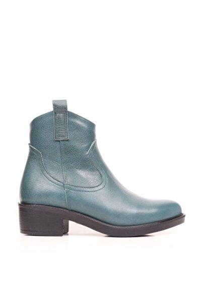 BUENO Shoes Fermuarlı Hakiki Deri Kadın Düz Bot 9p4101