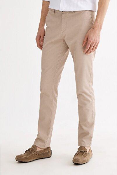 Avva Erkek Bej Yandan Cepli Armürlü Slim Fit Pantolon A01y3020