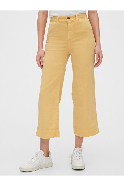 GAP Yüksek Belli Wide Leg Chino Pantolon