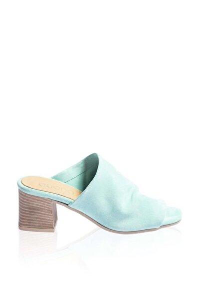 BUENO Shoes Önden Açık Hakiki Deri Topuklu Kadın Terlik 9n1319