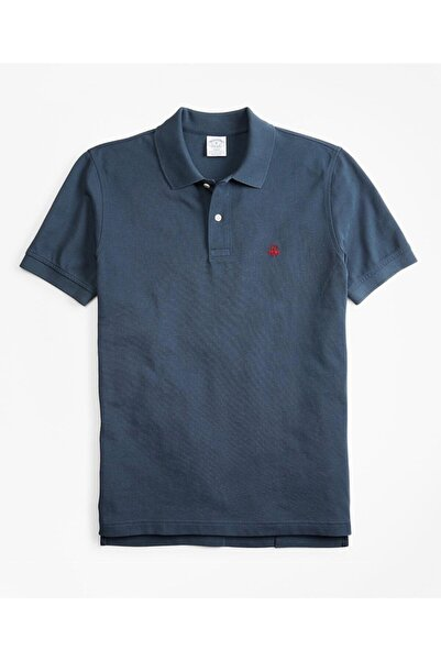 BROOKS BROTHERS Erkek Lacivert Supima Performans Polo Yaka T-shirt