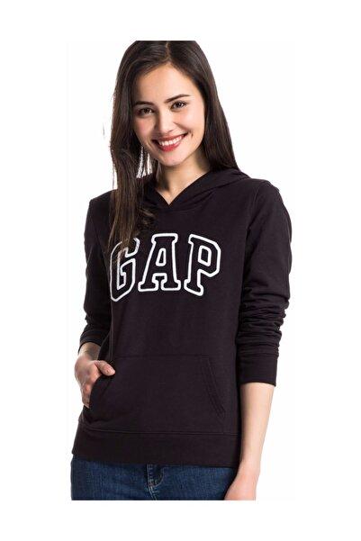 GAP Kadın Logo Kapüşonlu Sweatshirt