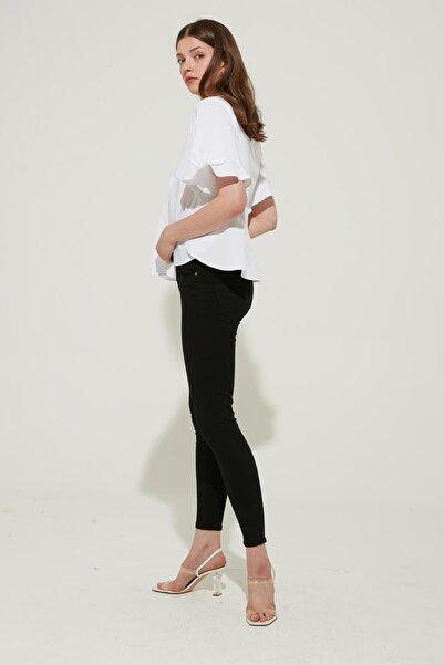 ZİNDİ Kadın Yüksek Bel Skinny Jeans Siyah