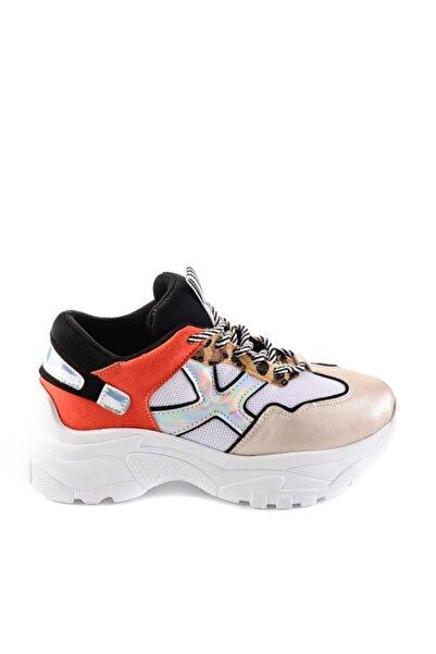 Bambi Turuncu/siyah Kadın Sneaker