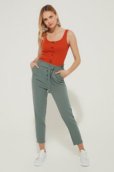 ZİNDİ Kadın Beli Bağlamalı Pantolon Mint