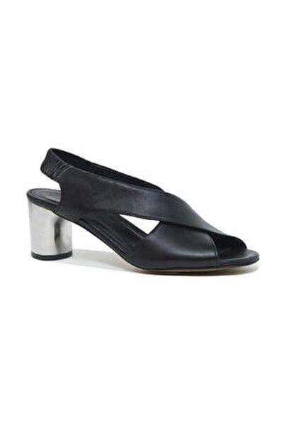 Arrianna Kadın Deri Gümüş Topuklu Sandalet