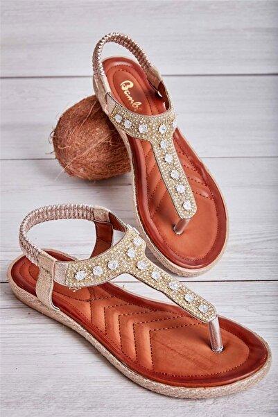 Bambi Altın Kadın Sandalet L0578202436