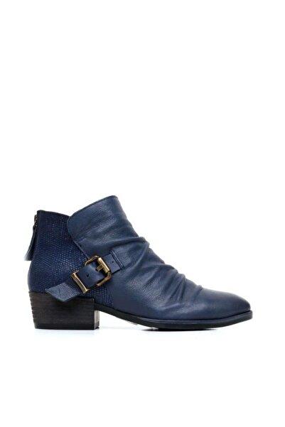 BUENO Shoes Fermuarlı Ve Baskılı Hakiki Deri Kadın Düz Bot 9p1307