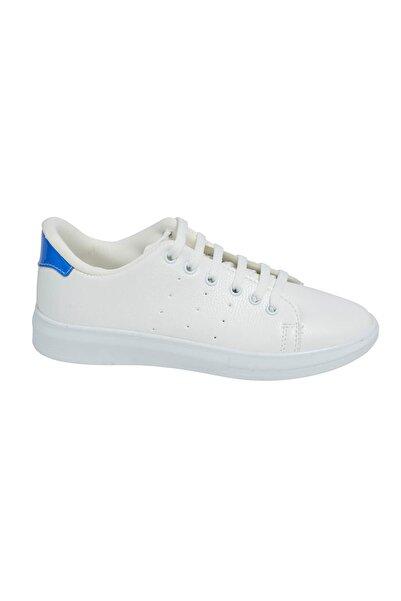 David Jones Kadın Spor Ayakkabı Beyaz Cilt / Mavi