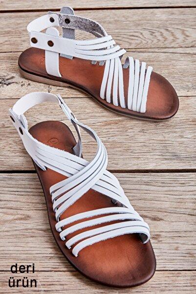 Bambi Beyaz Kadın Sandalet L0685222203