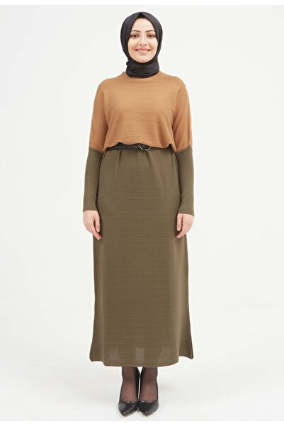 Setrms Safari Detay Triko Elbise
