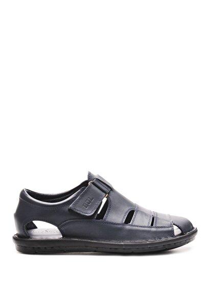 Bulldozer 201843 Lacıvert Erkek Deri Sandalet