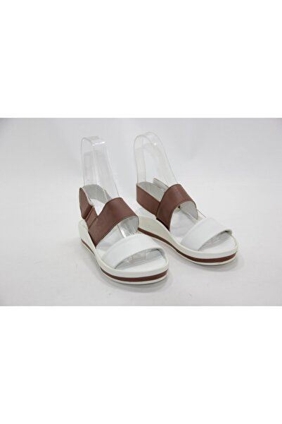İnci Bayan Beyaz 36 Numara Hakiki Deri Sandalet