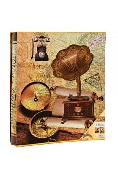 600'lük 10x15 Kutulu Gramafon Desenli Fotoğraf Albümü