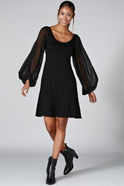 Kolu Tül Detay Elbise