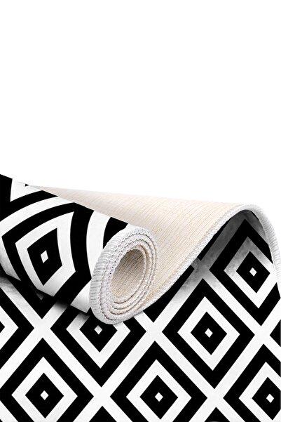 EXCLUSIVE Saray Dijital Halı Sarah Geometrik Siyah Beyaz