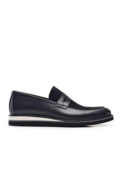 Nevzat Onay Hakiki Deri Siyah Günlük Loafer Erkek Ayakkabı -10325-