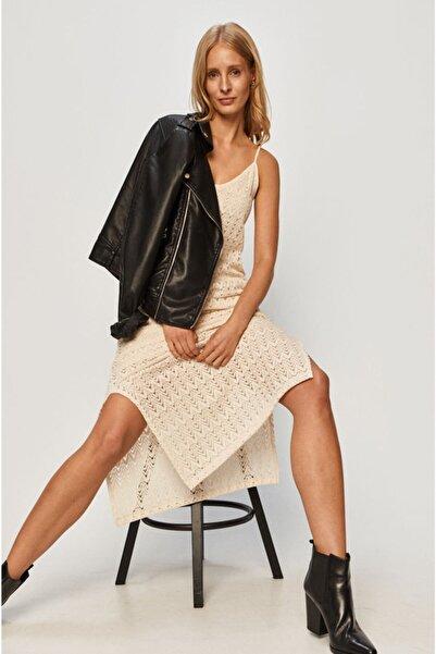Vero Moda Askılı Yarım Astarlı Yırtmaçlı Uzun Örme Elbise 10237856 Vmısabella