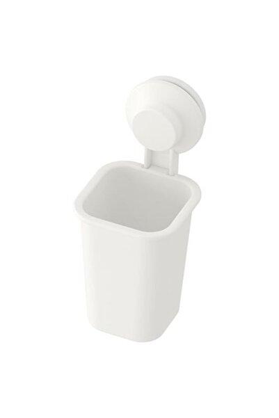 IKEA Beyaz Vantuzlu Banyo Diş Fırçalığı