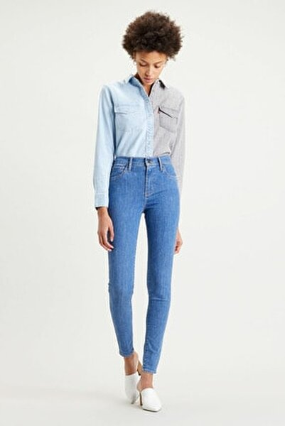 Kadın Mavi Yüksek Bel Super Skinny Jean 720