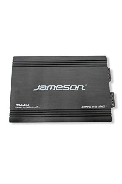 Jameson 2021 Model Usa-454 4 Kanallı 2800w Oto Amfi (2 Adet Y Kablo Hediyeli)