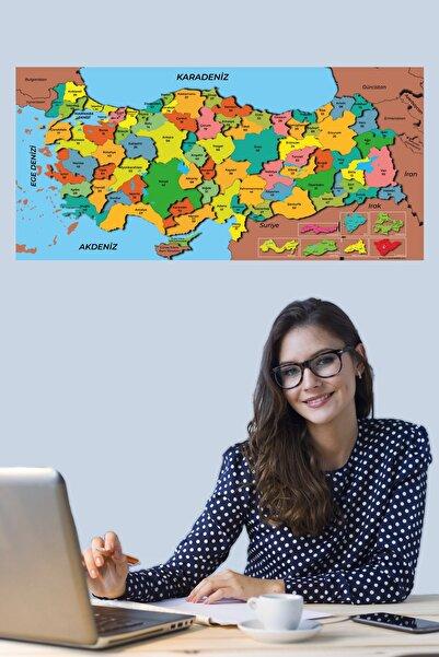 Tutunabilir Kağıt Türkiye Haritası Akıllı Kağıt Tahta Yazı Tahtası Özel Baskılı Renkli Dekoratif