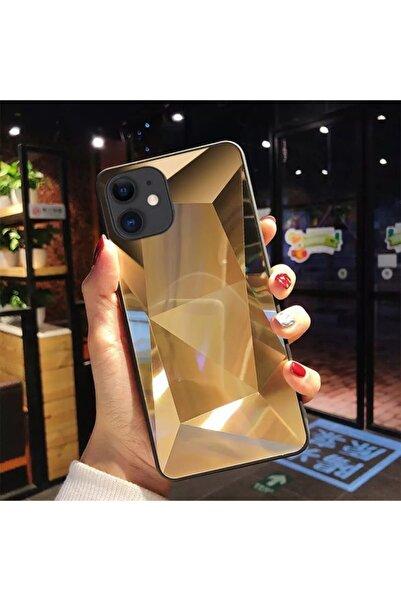 leoparcoverstore Iphone 11 Aynalı Gold Prizma Kılıf