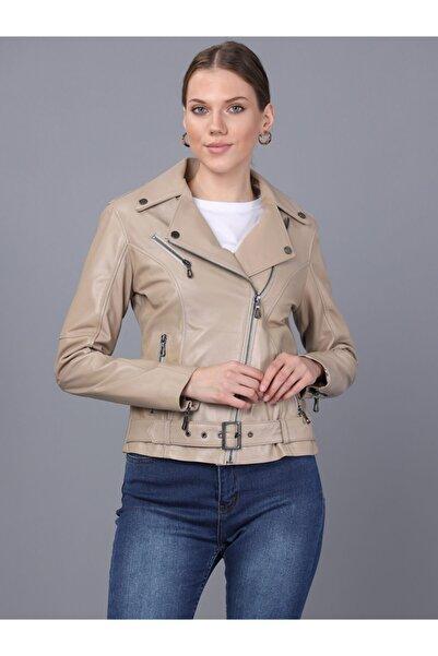 Basics&More Kadın Bej Deri Ceket
