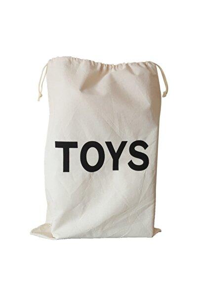 BugyBagy 50x70cm Ebadında Toys Figürlü Kanvas Oyuncak Ve Çamaşır Saklama Torbası