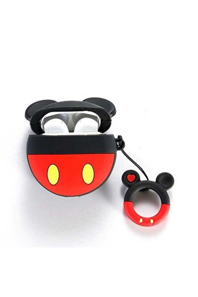 zore Airpods Uyumlu Mickey Mouse Figürlü Korumalı Wireless Şarj Destekli Tpu Askılı Kılıfı