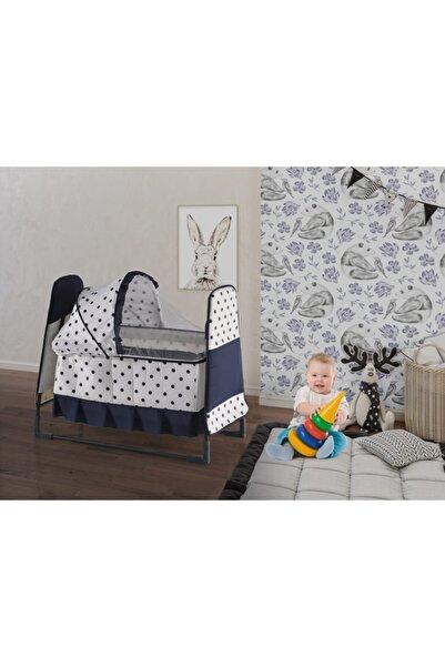 Webburada Lacivert Pıtırcık Portatif Bebek Beşik Yatak Hamak Bebek Salıncak Karyola Anne Yanı