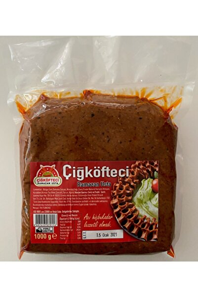 Çiğ Köfteci Ramazan Usta 1 kg Etsiz Çiğköfte