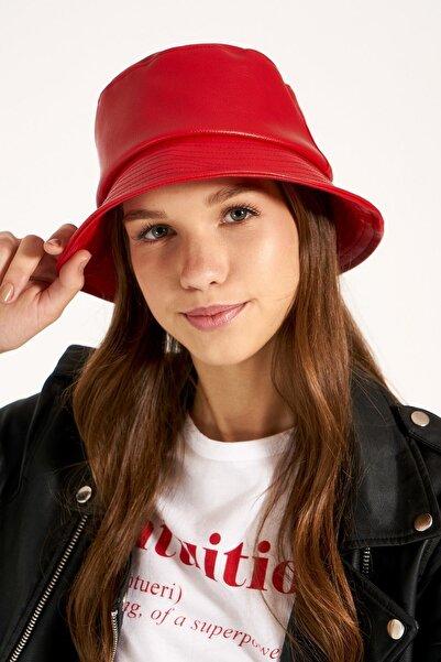 Y-London 13529 Kırmızı Deri Şapka
