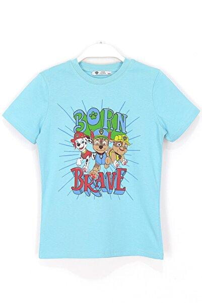 PAW PATROL Chase Rubble Marshall Baskılı Çocuk T-shirt 2 - 7 Yaş Mavi