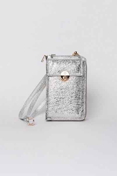 Jacquline Kadın Gümüş Lyrıc Gloss Çapraz Çanta