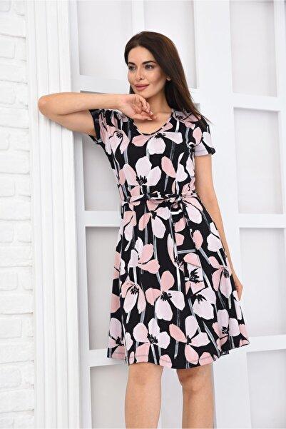 LUSUTANO Kadın Siyah Elbise