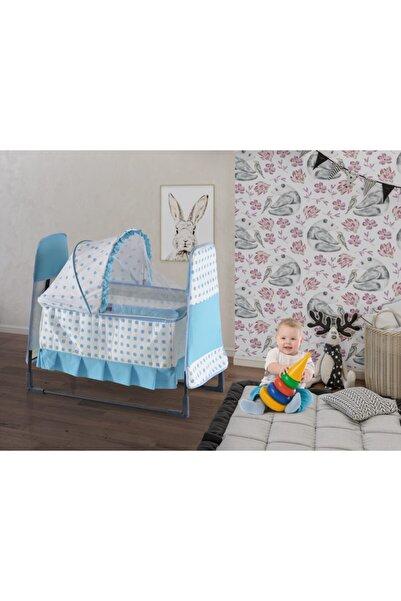 Webburada Mavi Pıtırcık Portatif Bebek Beşik Yatak Hamak Bebek Salıncak Karyola Anne Yanı