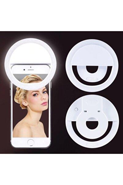 izzy Şarjlı Led Selfie Işığı Led Ring Light Halka Telefon Işığı 36 Led 3 Kademeli