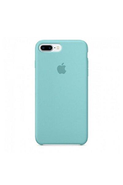LuffyCase Apple 7/8 Plus Uyumlu Turkuaz Lansman Silikon Kılıf