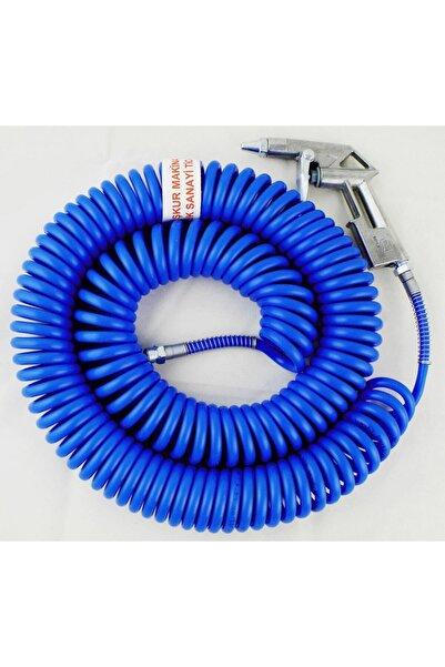 İşkur Makina Kompresör Spiral 15 Metre Hava Hortumu Ve Tabancası