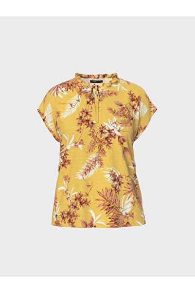 LC Waikiki Kadın Sarı Baskılı Bluz 0SN903Z8
