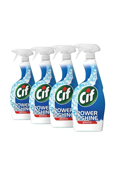 Cif Power & Shine Banyo Sprey 750 ml - 4'lü Paket