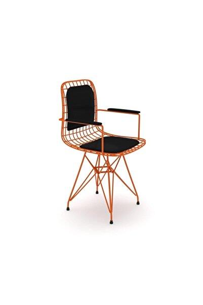 Kenzlife Kafes Tel Sandalyesi 1 Li Mazlum Trnsyh Kolçaklı Sırt Minderli Ofis Cafe Bahçe Mutfak