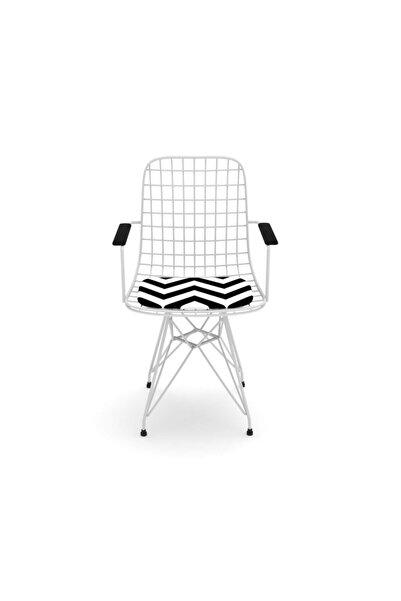 Kenzlife Kafes Tel Sandalyesi 1 Li Mazlum Byzaldo Kolçaklı Ofis Cafe Bahçe Mutfak