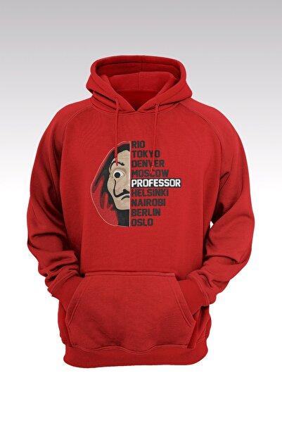 Tonny Mood Unisex Kırmızı La Casa De Papel 105 Kapşonlu Hoodie Sweatshirt