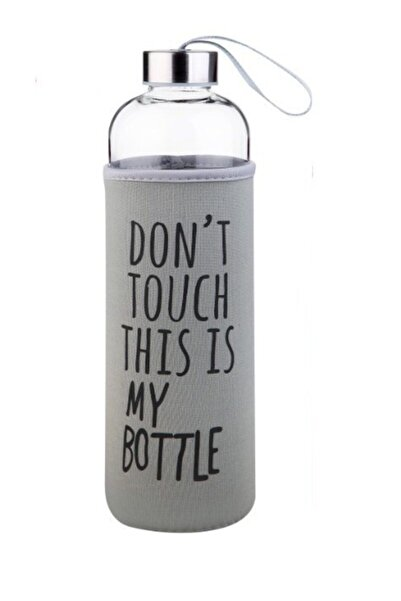 AnkaShop My Bottle Borosilikat Cam Matara 1000 Ml Borcam Su Şişesi 1 Lt Gri