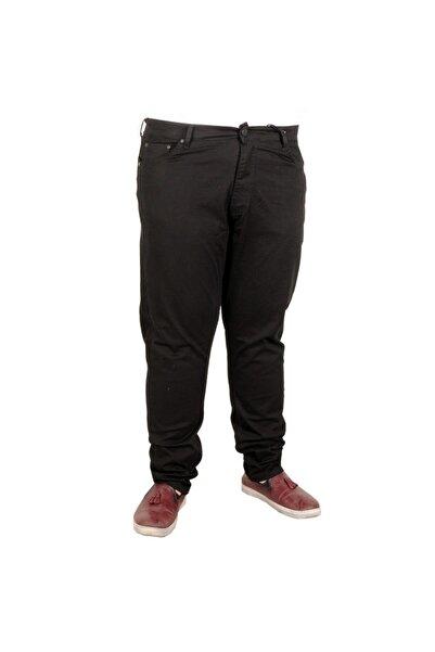 ModeXL Erkek Pantolon Keten Neptun Klasik 20902 Siyah