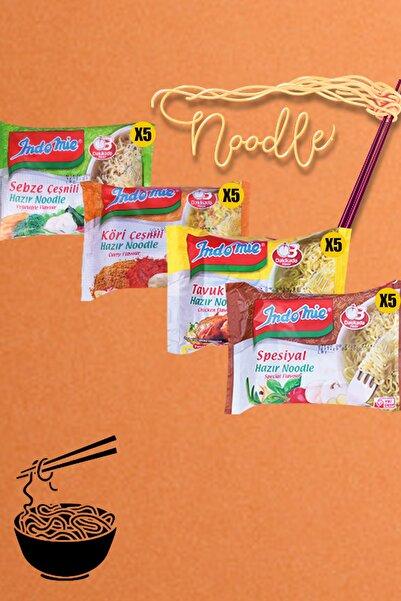 İndomie 20'li Mix Hazır Noodle Paket Çeşitleri