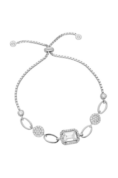 Chavin Baget Taşlı Asansörlü Gümüş Bileklik Ee50by