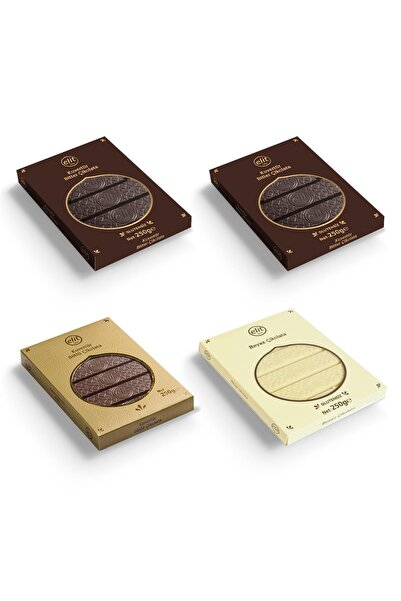 Elit Çikolata 250gr  4'lü Set Kuvertür Çikolata